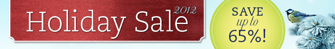 Holiday Sale 2012: Save up to 65%