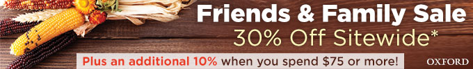Friends & Family Sale: 30% Off Sitewide*