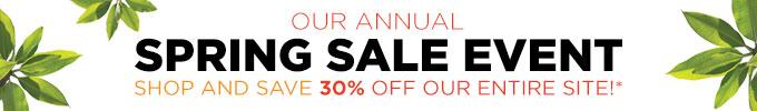 Spring Sale 2015: Save 30%