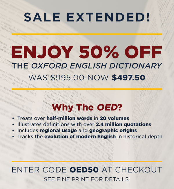 Save 50% on Oxford English Dictionary