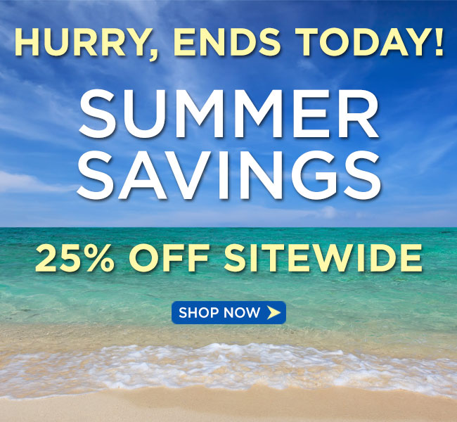 Summer Sale 2015: Save 25%